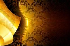 Golden wallpaper background Stock Photo