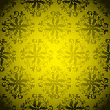 Golden wallpaper repeat Stock Photography