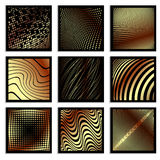 Golden warp textures Stock Photo