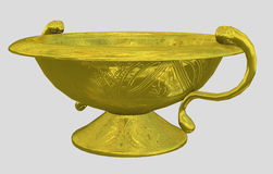 Golden wash dish Royalty Free Stock Photos