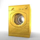 Golden washing machine Stock Images