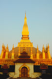 Golden Wat in  Laos Royalty Free Stock Photos