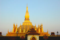 Golden Wat in  Laos Royalty Free Stock Image
