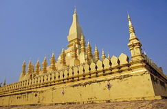 Golden Wat Thap Luang in Vientiane Royalty Free Stock Images