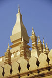 Golden Wat Thap Luang in Vientiane Stock Photography