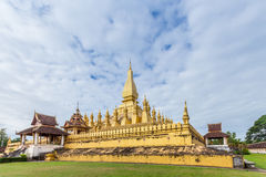 Golden Wat Thap Luang Stock Photography