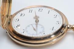 Golden Watch. An old golden pocket watch Stock Photography