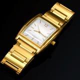 Golden watch. 3D model of brutal golden watch Stock Photos