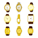 Golden Watch Collection Stock Photography