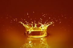 Golden water Royalty Free Stock Photos