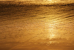 Golden water abstract Royalty Free Stock Image