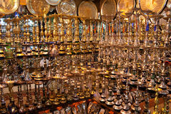 Golden Water Pipe Market Royalty Free Stock Photography