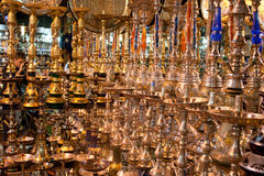 Golden Water Pipe Market stock photography