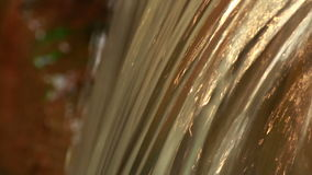 Golden Water Stream stock video footage
