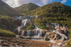 Golden Waterfall is one of the most beautiful waterfall in Taiwan royalty free stock photography