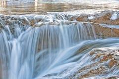 Golden Waterfalls Stock Photos