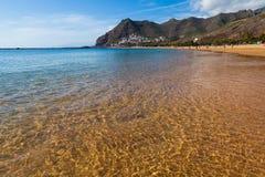 Golden Waters in Las Teresitas Beach Royalty Free Stock Image