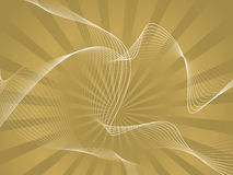Golden wave Royalty Free Stock Photos