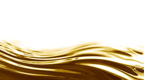 Golden wave Stock Image