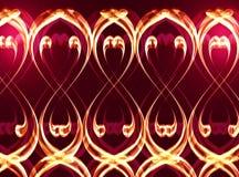 Golden wave abstract border royalty free stock photos