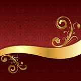 Golden wave background. Stock Images