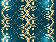 Golden wave background Stock Image