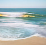 Golden Wave Blur Stock Photo