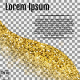 A golden wave of confetti in the form of stars. Gold stars. Conf. Etti celebration, Falling golden abstract decoration for party, birthday celebrate, anniversary Stock Photography