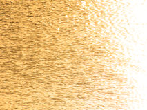 Golden wavelets on the surface of water Royalty Free Stock Photos