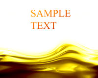 Golden waves Stock Photography