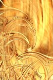 Golden waves stock illustration