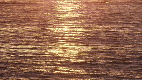 Golden Waving Sea Waters at Sunrise stock video
