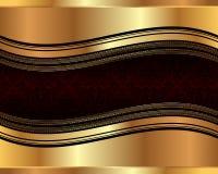 Golden wavy background 2 Stock Photos