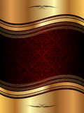 Golden wavy background Royalty Free Stock Photos