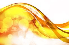 Golden Wavy Bokeh Stock Image
