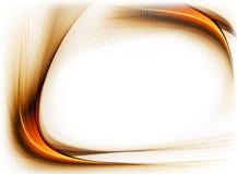 Golden wavy border, internet concept Royalty Free Stock Photos
