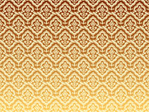 Golden wavy patterns. Illustration of classical wave patterns Stock Image