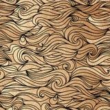 Golden wavy seamless pattern. Vector illustration vector illustration