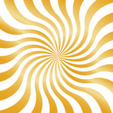 Golden Wavy Stripes Running from the Center. Geometric Abstract Background Royalty Free Stock Photo