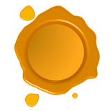 Golden wax seal Stock Images