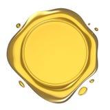 Golden Wax Seal Illustration Stock Image