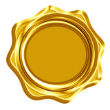Golden wax seal Stock Photography