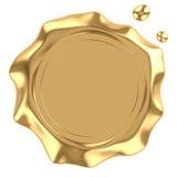 Golden wax seal Stock Photos