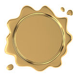 Golden wax seal Stock Images