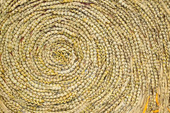 A golden wead weave art Royalty Free Stock Images