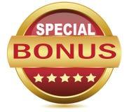 Golden Web button bonus -vector image. Get Bonus Icon Button– stock illustration Vector stock illustration