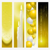 Golden wedding banners Stock Photography