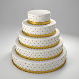 Golden wedding cake Stock Image
