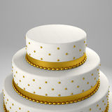 Golden wedding cake Stock Photo