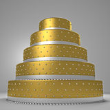 Golden wedding cake Royalty Free Stock Image